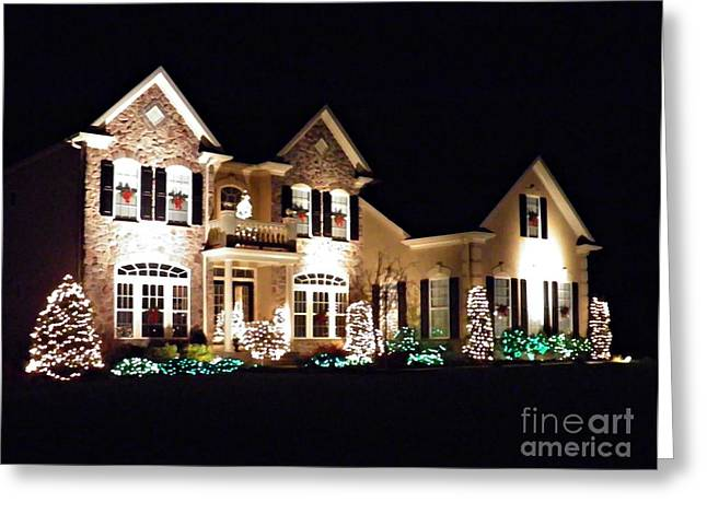 Decorated for Christmas Greeting Card by Sarah Loft