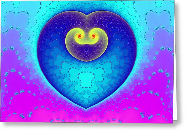 Element90 Greeting Cards - Decorated Heart Greeting Card by Mark Eggleston
