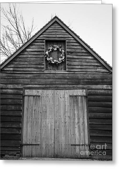 Door Hinges Greeting Cards - Decorated Stable Greeting Card by Teresa Mucha
