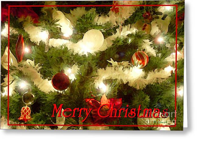 Www Greeting Cards Greeting Cards - Decorated Tree Christmas Card Greeting Card by E B Schmidt