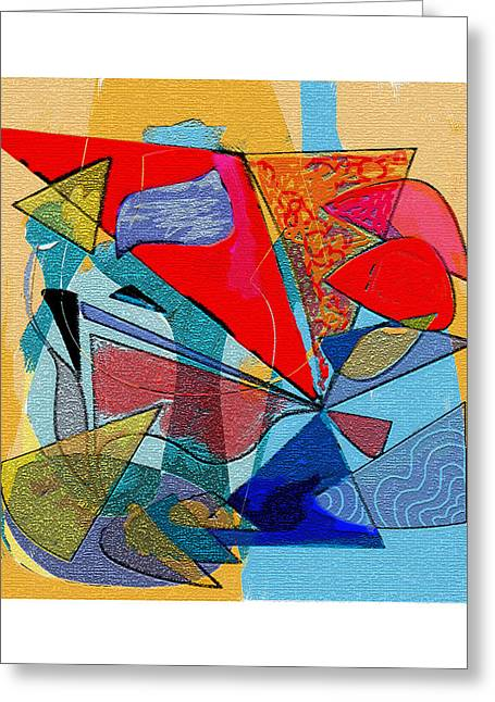 Decorative Interior Art Abstract Greeting Card by Olga Sheyn