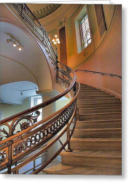 Architecture Metal Prints Greeting Cards - Decorative Stairway Greeting Card by Steven Ainsworth