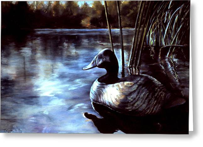 Hunting Pastels Greeting Cards - Decoy at Tealwood Greeting Card by Pattie Wall