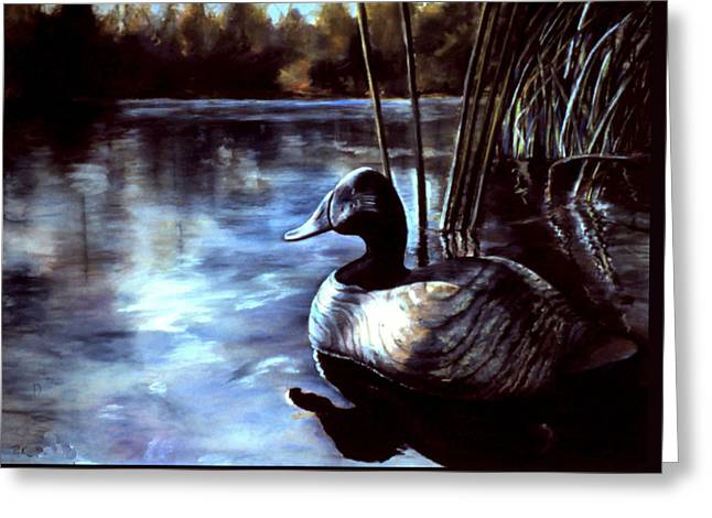 Hunter Pastels Greeting Cards - Decoy at Tealwood Greeting Card by Pattie Wall