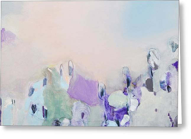 Haze Paintings Greeting Cards - Dedication Greeting Card by Iris Lehnhardt