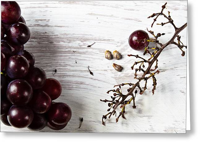 Purple Grapes Greeting Cards - Deeelicious Greeting Card by Constance Fein Harding