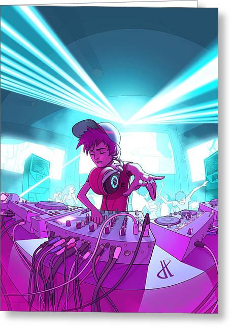 Bpm Greeting Cards - Deejay Greeting Card by Pere Devesa