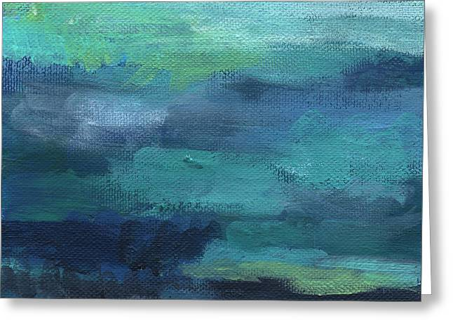 Tranquility- Abstract Painting Greeting Card by Linda Woods