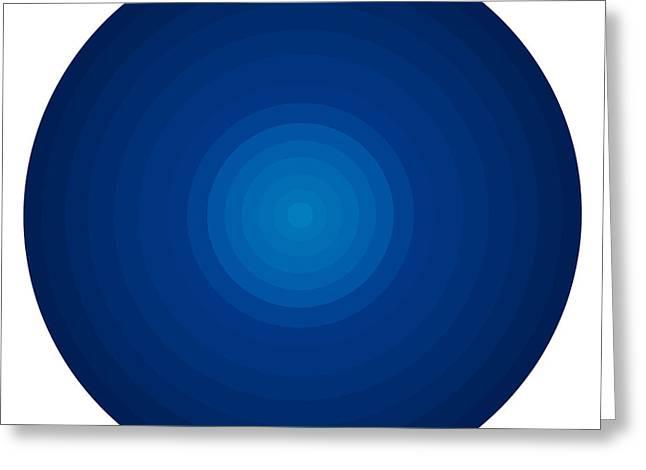 Deep Blue Circles Greeting Card by Frank Tschakert