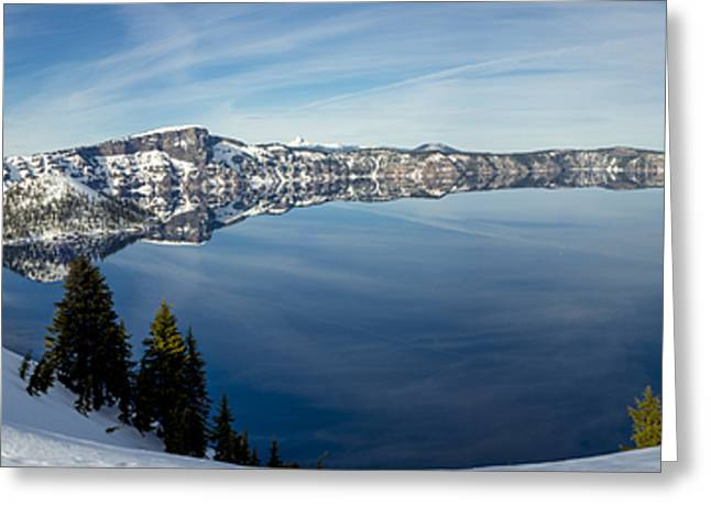 Deep Blue Crater Greeting Card by Loree Johnson