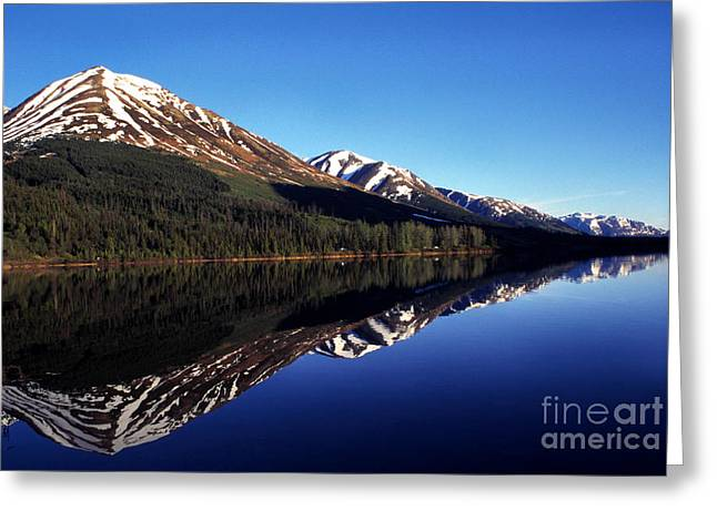 Snow Capped Greeting Cards - Deep Blue Lake Alaska Greeting Card by Thomas R Fletcher