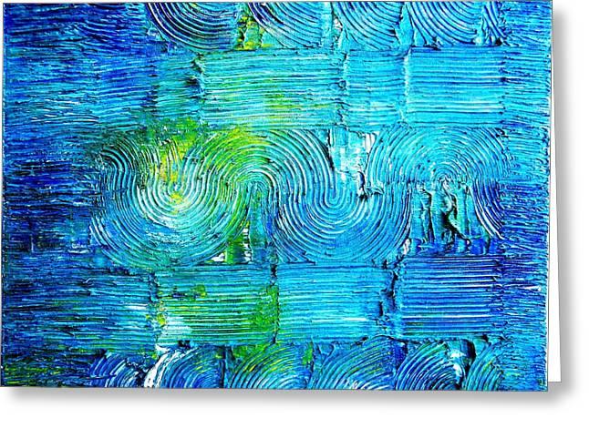 20 X 16 Greeting Cards - Deep Blue Sea  Greeting Card by Ben Asayag