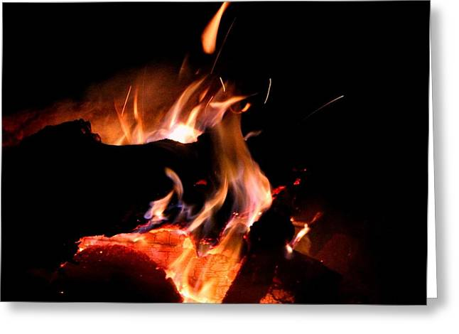 Firepit Greeting Cards - Deep Burn Greeting Card by Brandy Nicole Clark