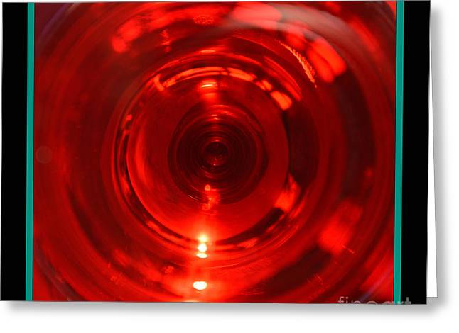 Wine-glass Sculptures Greeting Cards - Deep Dive Greeting Card by Nancy Harris