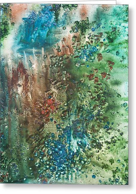 Pouring Mixed Media Greeting Cards - Deep Down - To the Soul of the Sea Greeting Card by Sora Neva