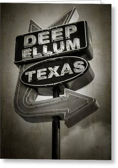 Vintage Greeting Cards - Deep Ellum Greeting Card by Joan Carroll