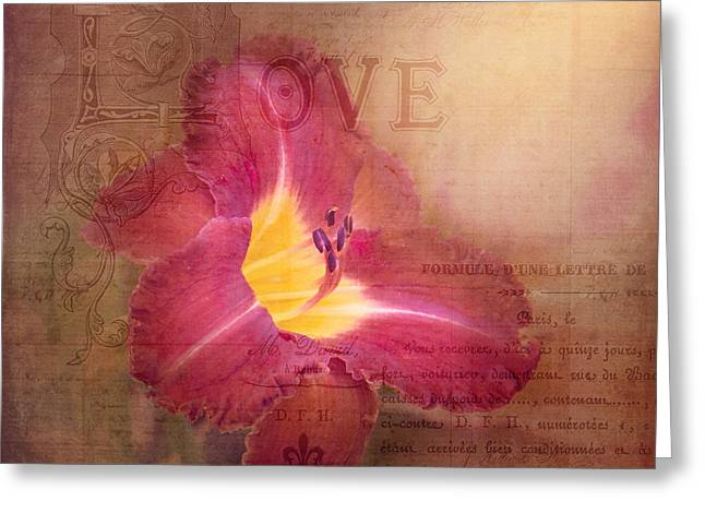 Stamen Digital Art Greeting Cards - Deep Emotion Greeting Card by Betty LaRue