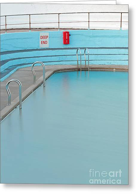 Step Ladder Greeting Cards - Deep End Greeting Card by Richard Thomas