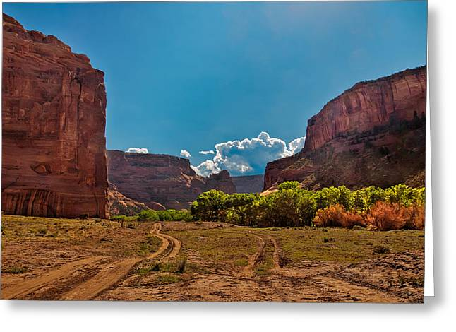 The Plateaus Digital Art Greeting Cards - Deep in Canyon De Chelly Greeting Card by  Bob and Nadine Johnston