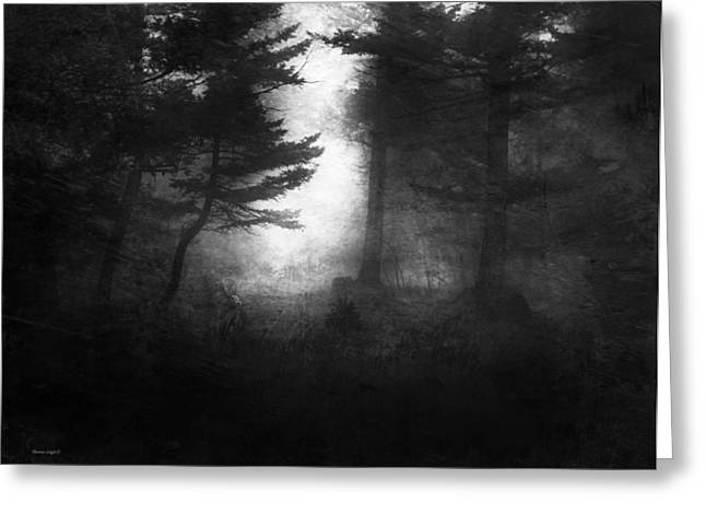 Deep In The Dark Woods Greeting Card by Theresa Tahara