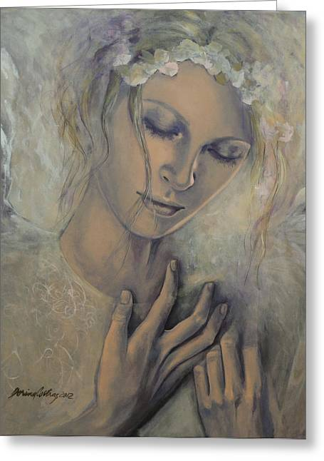 Live Paintings Greeting Cards - Deep Inside Greeting Card by Dorina  Costras