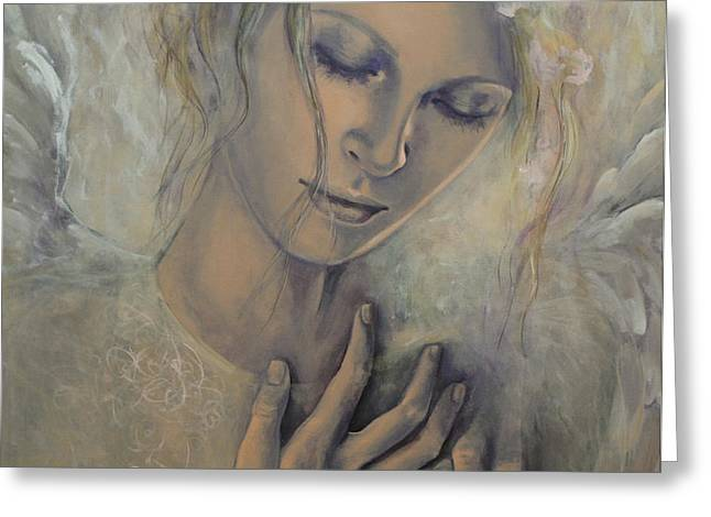 Deep Inside Greeting Card by Dorina  Costras