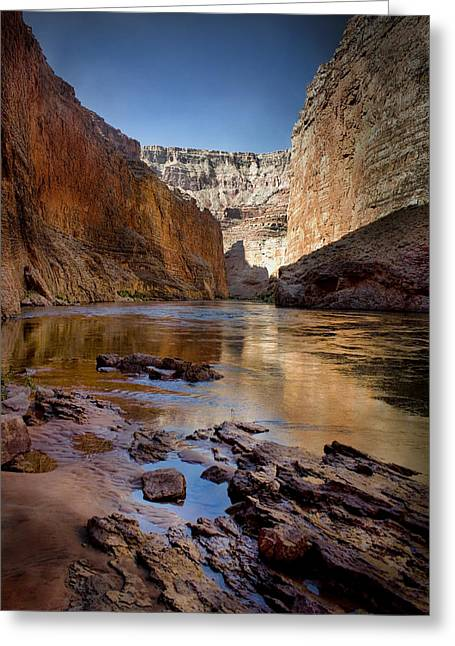Sandbar Greeting Cards - Deep inside the Grand Canyon Greeting Card by Ellen Heaverlo