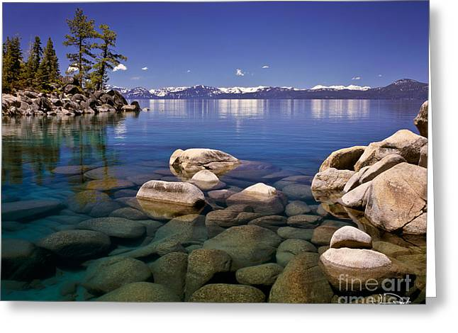 Lake Greeting Cards - Deep Looks Greeting Card by Vance Fox