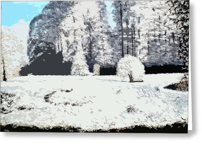 Winter Prints Mixed Media Greeting Cards - Deep Mid Winter Greeting Card by Patrick J Murphy