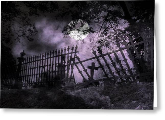 Deep Purple Midnight Greeting Card by Gothicolors Donna Snyder