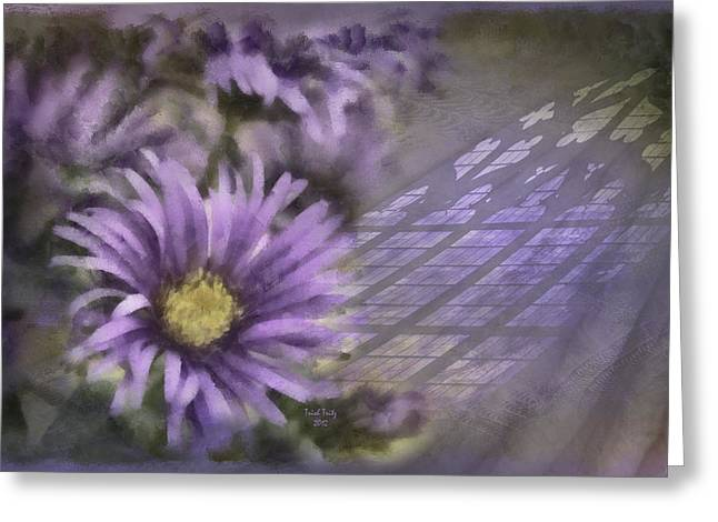 Glass Garden Greeting Cards - Deep Purple Greeting Card by Trish Tritz