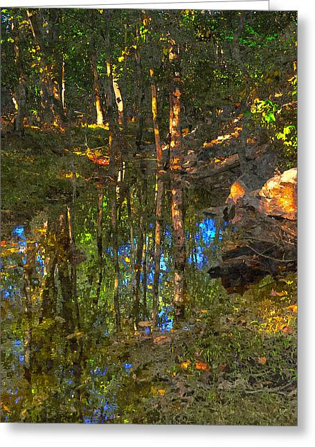 Sunset Framed Prints Digital Greeting Cards - Deep Reflections Greeting Card by Rick Mosher