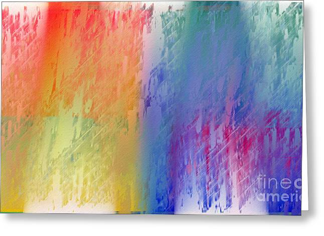 Abstract Digital Greeting Cards - Deep Rich Sherbet Abstract Greeting Card by Andee Design