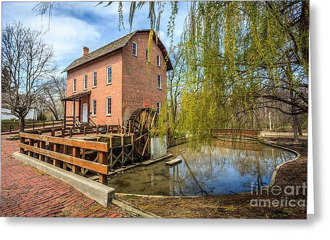 Grist Mill Greeting Cards - Deep River County Park Grist Mill Greeting Card by Paul Velgos