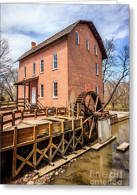 Grist Mill Greeting Cards - Deep River Grist Mill in Northwest Indiana Greeting Card by Paul Velgos