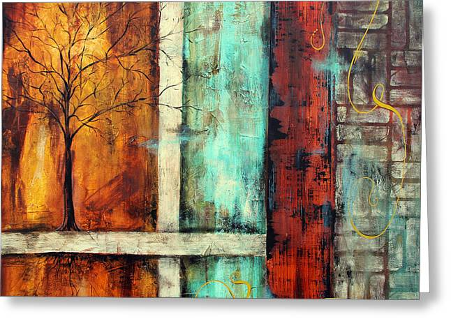 Tree Roots Paintings Greeting Cards - Deep Roots-A Greeting Card by Jean Plout