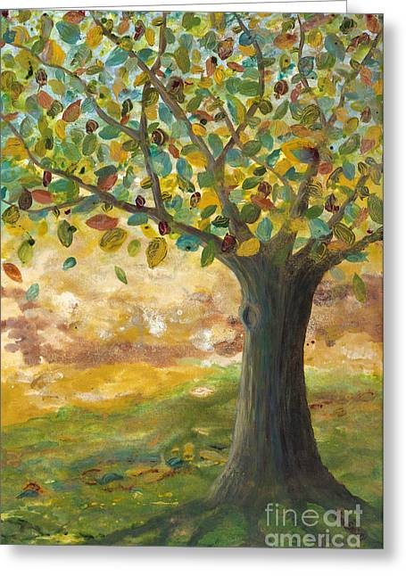 Tree Roots Paintings Greeting Cards - Deep roots Greeting Card by Mona Elliott