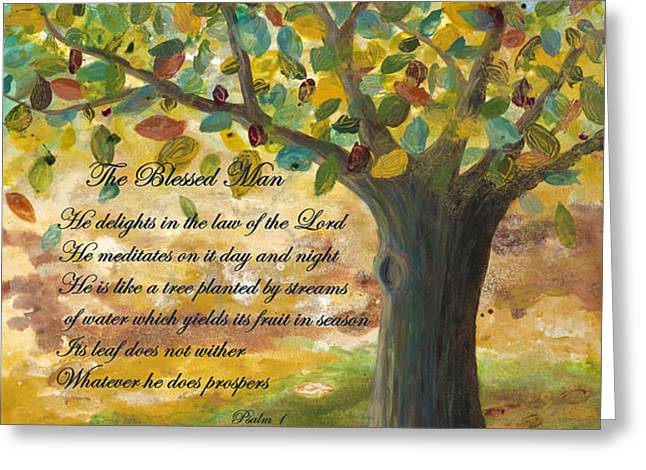 Deep Roots-with Scripture Greeting Card by Mona Elliott