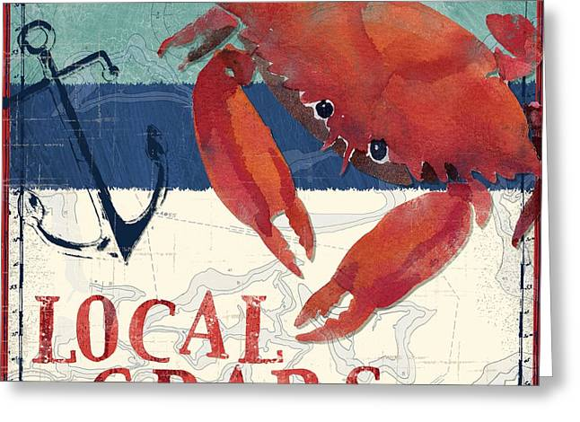 Shack Greeting Cards - Deep Sea Crab Greeting Card by Paul Brent