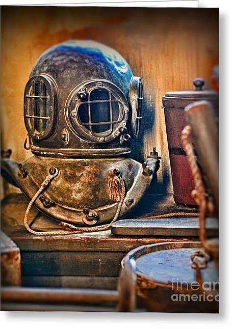 Underwater Diva Greeting Cards - Deep Sea Diver Greeting Card by Paul Ward