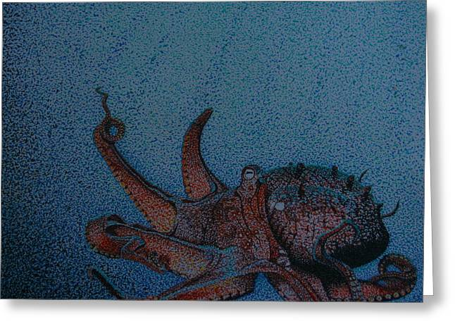 Ocean. Reflection Drawings Greeting Cards - Deep Sea Greeting Card by Jason Welter