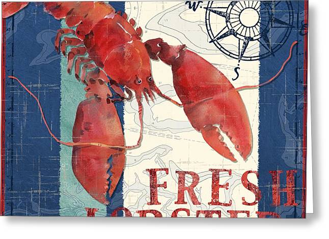 Check Greeting Cards - Deep Sea Lobster Greeting Card by Paul Brent