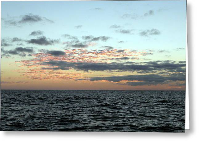 Ocean Panorama Greeting Cards - Deep Sea Sunrise Sunset 25 Greeting Card by Alex Mobile