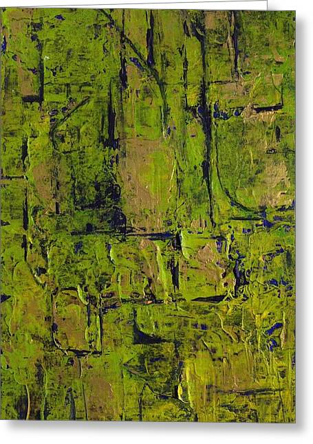 Deep South Summer Coming On - Panel II - The Green Greeting Card by Sandra Gail Teichmann-Hillesheim