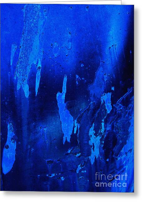 Best Seller Greeting Cards - Deep Space Blue Abstract Greeting Card by Lee Craig
