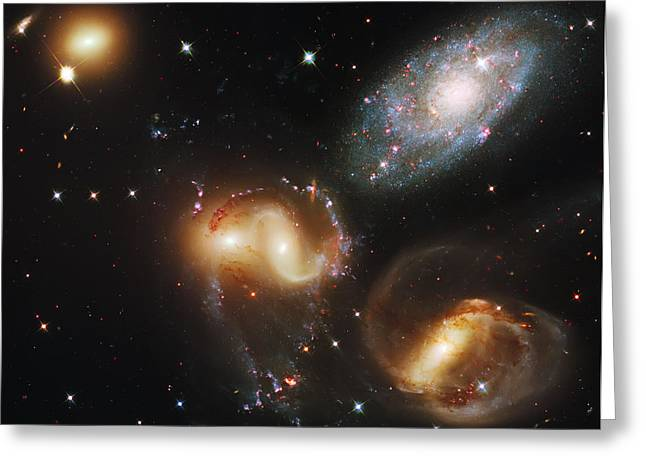 Deep Space Galaxies Greeting Card by The  Vault - Jennifer Rondinelli Reilly