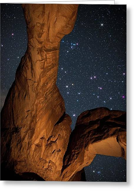 Deep Space Spectacle From Double Arch Greeting Card by Mike Berenson