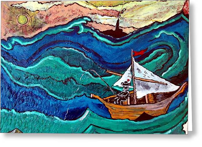 Acylic Painting Greeting Cards - Deep Thought Greeting Card by Matthew  James