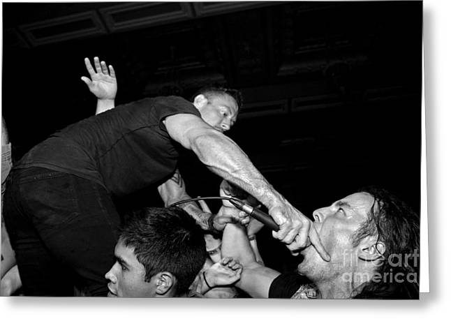 Dillinger Escape Plan Greeting Cards - Deep Throat Greeting Card by Chiara Corsaro