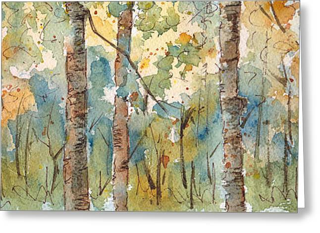 Deep Woods Waskesiu Horizontal Greeting Card by Pat Katz
